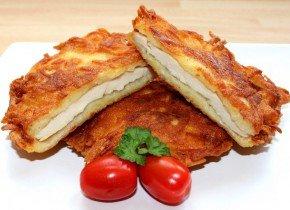 Skvelá inšpirácia na nedeľný obed. Kurací rezeň v zemiakovom kabátiku.