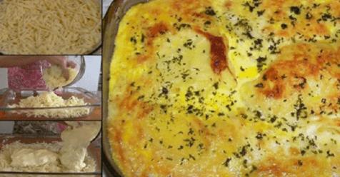 Máte doma zemiaky a syr? Všetko som dala do zapekacej misy a vložila do rúry. Moja rodina jedlo zjedla okamžite