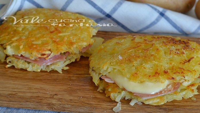 Chrumkavé zemiakové placky so šunkou a syrom bez múky a vajec! Hotové za 15 minút!