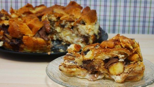 Chutný croissantový koláč! Tento koláč nemôžete pokaziť. Je jednoduchý, lahodný a zdvihne náladu.