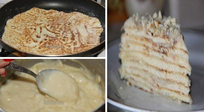 Nepečená palacinková torta pripravená za pár minút!