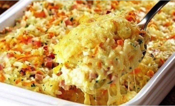 Skúsite túto netradičnosť? Chutná pečená ryža so syrom a šunkou!