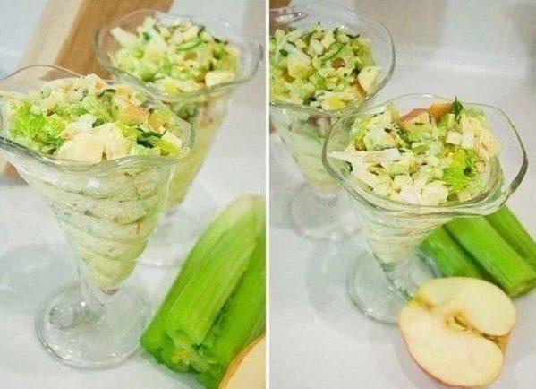 Úžasný ľahký fit šalát s jablkami a zelerom