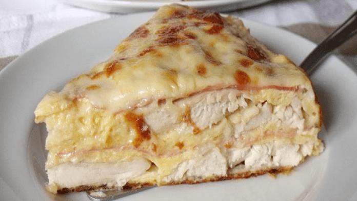 Slaný kurací koláč so šunkou a syrom! Chutí fantasticky!