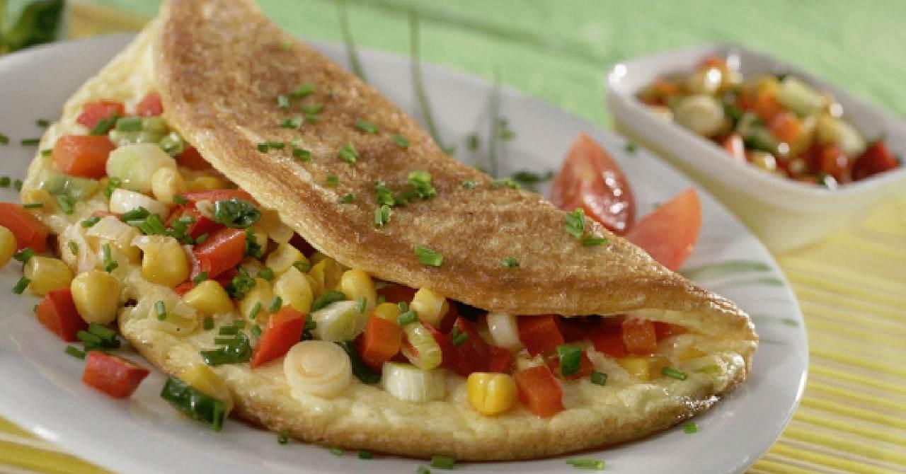 Omeleta so zeleninou-rýchla večera.