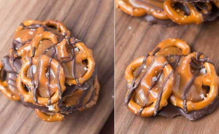 Rýchla chuťovka: Praclíky s karamelom, čokoládou a morskou soľou