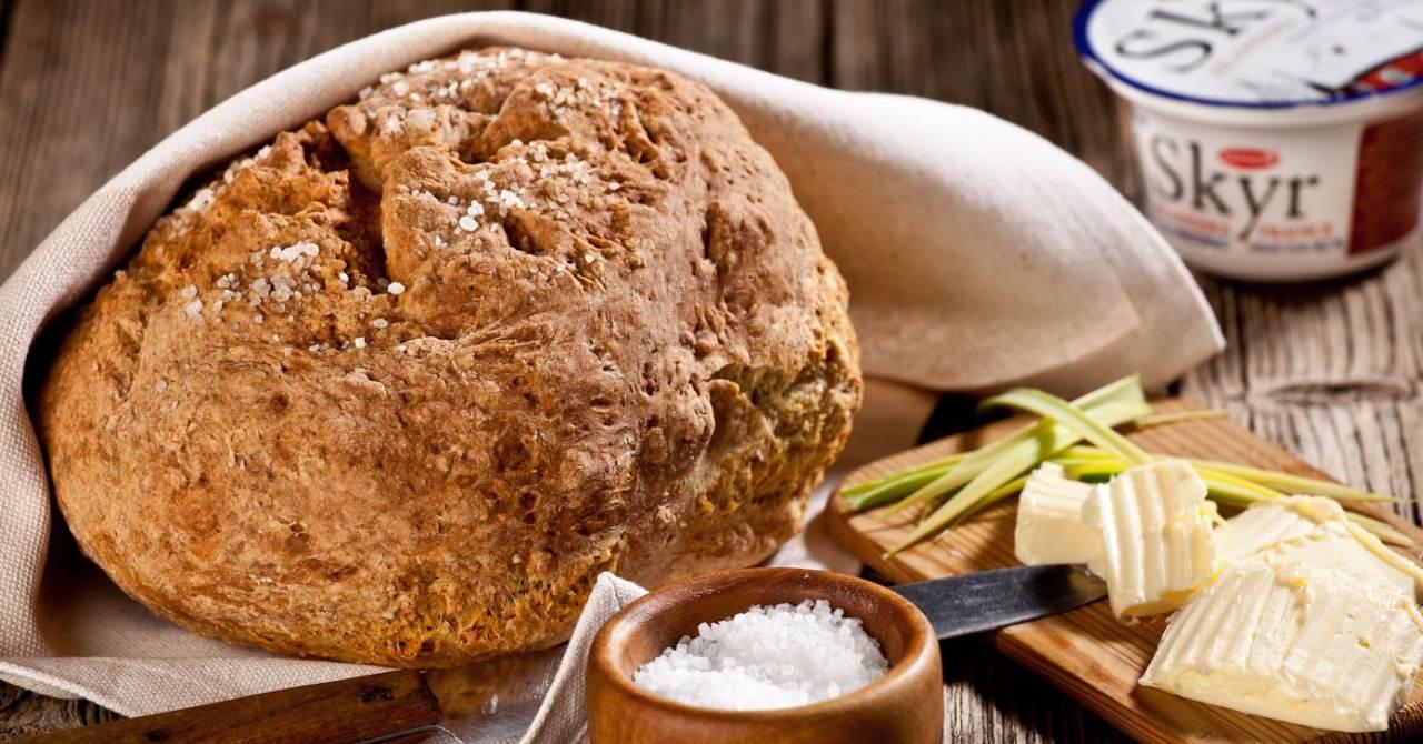Skyr sóda chlieb