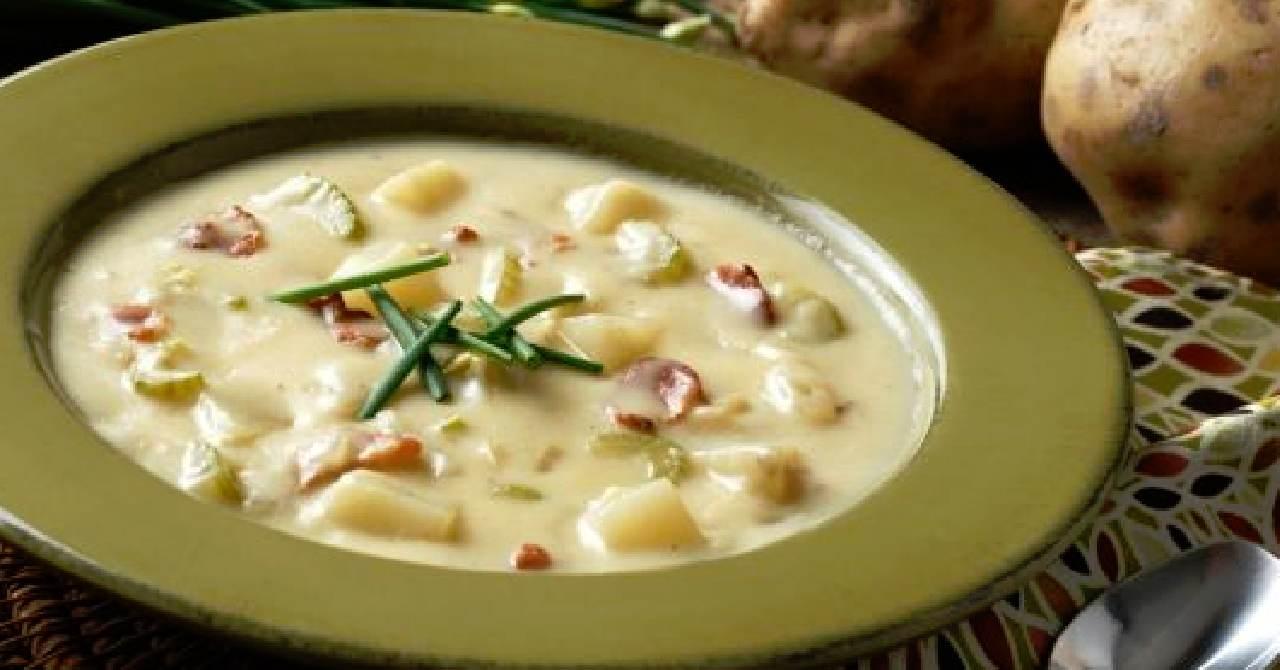 Vynikajúca zemiaková polievka na kyslo.