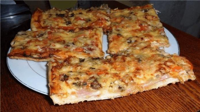 Skvelá domáca pizza na ktorej si pochutí celá rodinka! Lahodné!