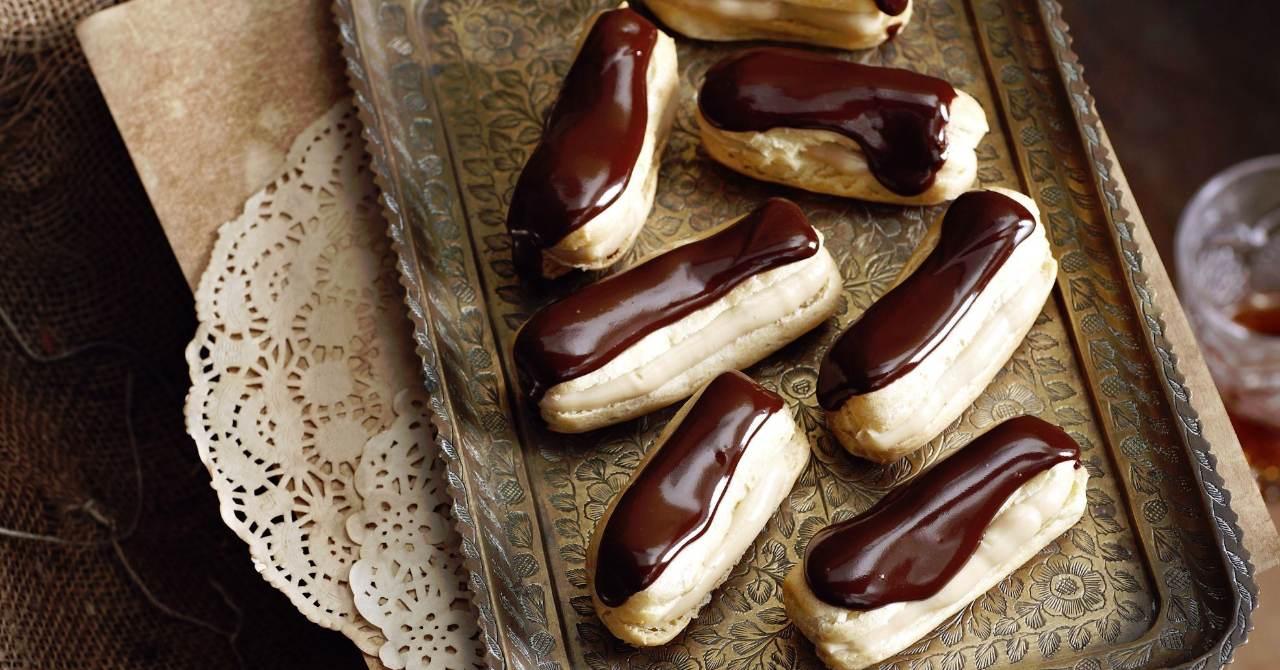 Banániky s lahodným krémom a čokoládou.
