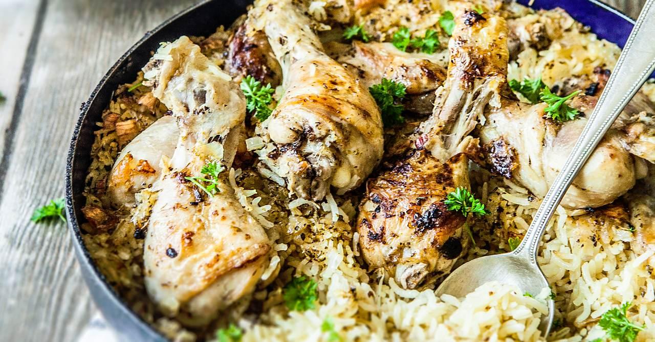 Výdatné kura na grécky spôsob.